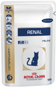 Royal Canin Renal, консервы для кошек при заболеваниях почек, с курицей, 85 г.