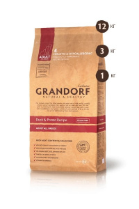GRANDORF GRANDORF Exclusive Grain Free Adult All Breed беззерновой сухой корм для собак всех пород, утка и батат